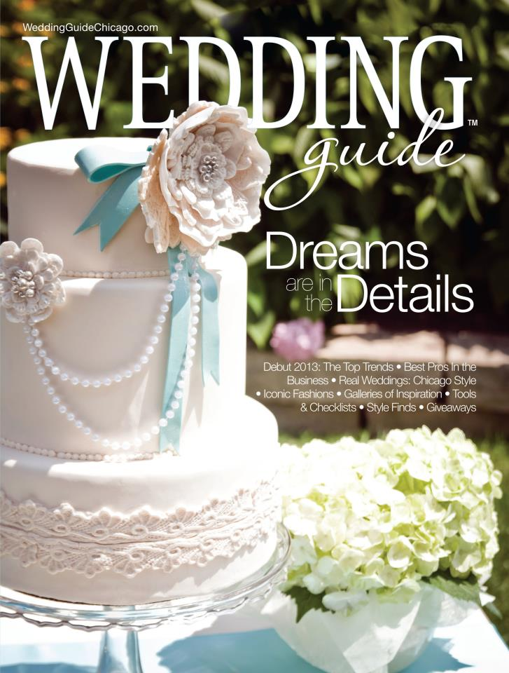 We made the cover of wedding guide chicago magazine one fine about onefinedayevents junglespirit